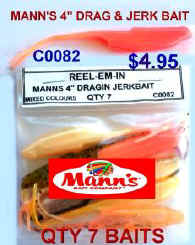 MANNS DRAG AND JERK BAIT LURES